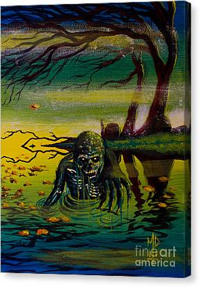 Swamp Dweller Canvas Print by Matt Detmer