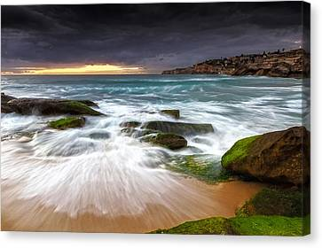 Swirls On The Rock Canvas Print by Mark Lucey