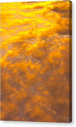 Tangerine Sky Canvas Print by David Pyatt