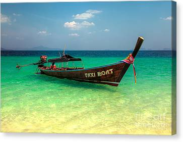Taxi Boat Canvas Print by Adrian Evans
