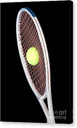 Tennis Ball And Racket Canvas Print by Ted Kinsman