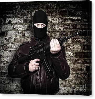 Terrorist Portrait Canvas Print by Gualtiero Boffi