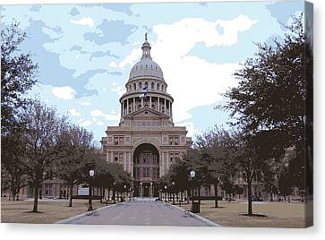 Texas Capitol Color 16 Canvas Print by Scott Kelley