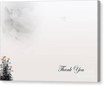 Thank You #4 Canvas Print by Trilby Cole
