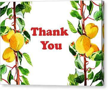 Thank You Card   Canvas Print by Irina Sztukowski