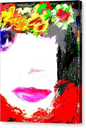 Canvas Print featuring the digital art That Girl by Rc Rcd