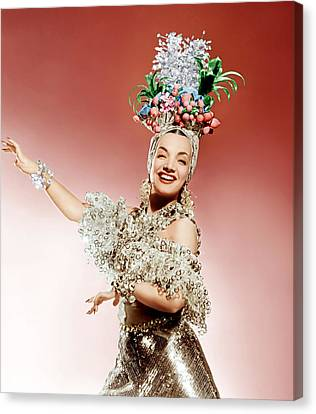 Gold Lame Canvas Print - That Night In Rio, Carmen Miranda, 1941 by Everett