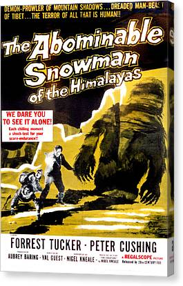 The Abominable Snowman, Aka The Canvas Print by Everett