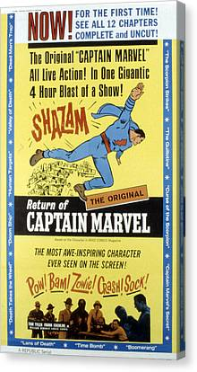 The Adventures Of Captain Marvel, Tom Canvas Print by Everett