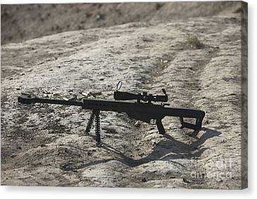The Barrett M82a1 Sniper Rifle Canvas Print by Terry Moore