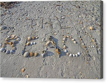 The Beach Canvas Print by Betsy Knapp