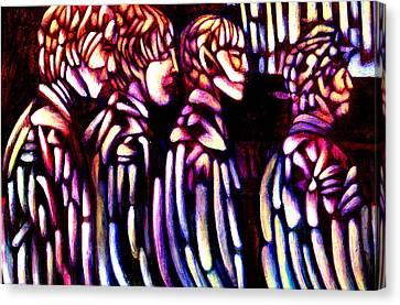 The Beatles Canvas Print by Giuliano Cavallo