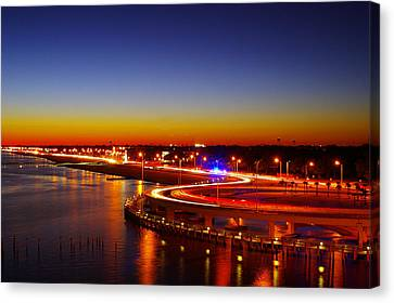 Canvas Print featuring the photograph The Beauty Of The Night by Brian Wright