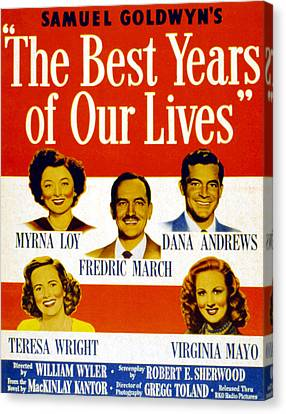 The Best Years Of Our Lives, Myrna Loy Canvas Print
