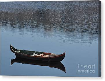 The Boat Canvas Print by Armando Carlos Ferreira Palhau