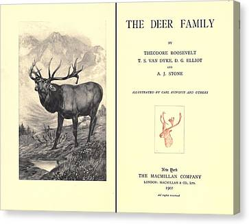The Deer Family Was First Published Canvas Print by Everett