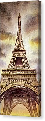 The Eiffel Tower  Canvas Print by Irina Sztukowski