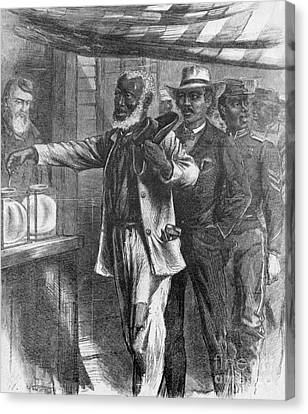 The First Vote, 1867 Canvas Print by Photo Researchers