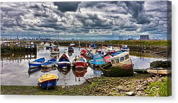 Paddys Hole Canvas Print - The Fishing Fleet by Trevor Kersley