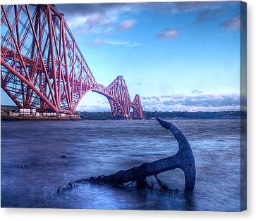 The Forth Rail Bridge Scotland Canvas Print by Amanda Finan