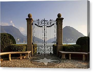 The Gateway To Lago Di Lugano Canvas Print by Joana Kruse