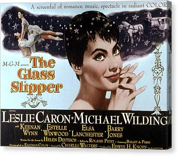 The Glass Slipper, Leslie Caron Canvas Print by Everett