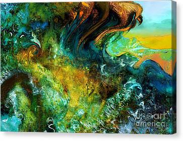 The Golden Wave  Canvas Print by Anne Weirich