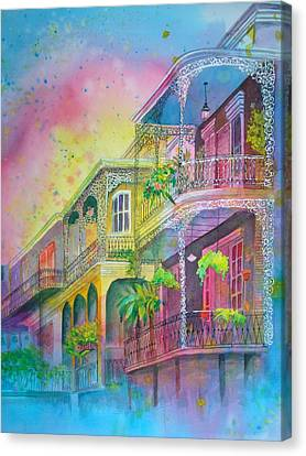 Canvas Print featuring the painting The Grace Of Lace by AnnE Dentler
