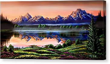 The Grand Tetons Canvas Print by Phil Koch
