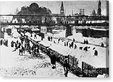 The Great Blizzard, Nyc, 1888 Canvas Print by Science Source