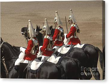 The Household Cavalry Performs Canvas Print by Andrew Chittock