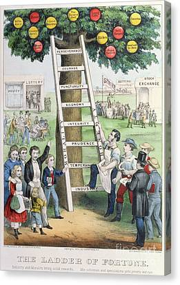 The Ladder Of Fortune Canvas Print