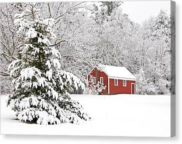 The Little Red School House Canvas Print