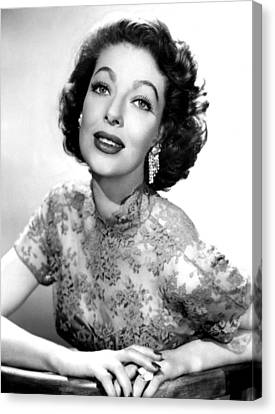 The Loretta Young Show, Loretta Young Canvas Print by Everett