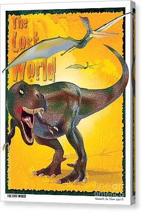Canvas Print featuring the photograph The Lost World by Kenneth De Tore