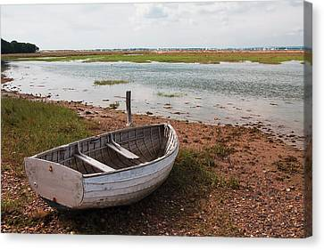 Canvas Print featuring the photograph The Old Boat by Shirley Mitchell
