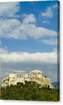 Greek Icon Canvas Print - The Parthenon On The Acropolis by Richard Nowitz