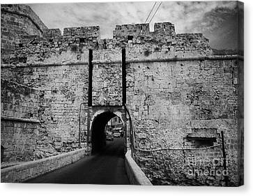 The Porta Di Limisso The Old Land Gate In The Old City Walls Famagusta Turkish Republic Cyprus Canvas Print by Joe Fox