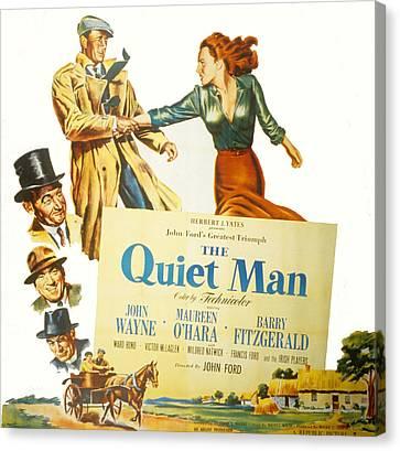 Barry Bonds Canvas Print - The Quiet Man, John Wayne, Maureen by Everett