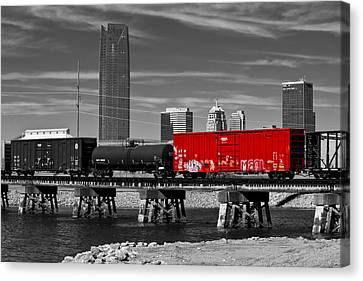The Red Box Car Canvas Print by Doug Long