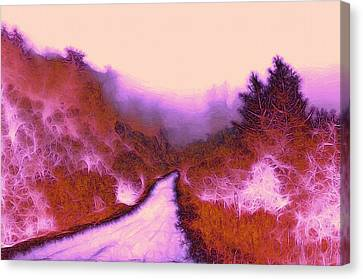 The Red Weed  Canvas Print by Steve K