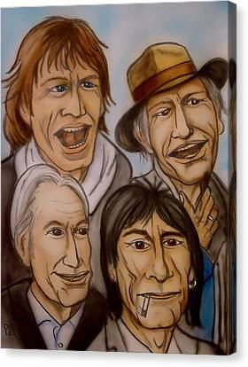 The Rolling Stones Canvas Print by Pete Maier