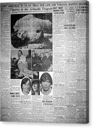 The Roscoe Fatty Arbuckle Murder Case Canvas Print
