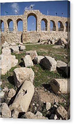 The Ruins Of The Ancient City Of Jerash Canvas Print