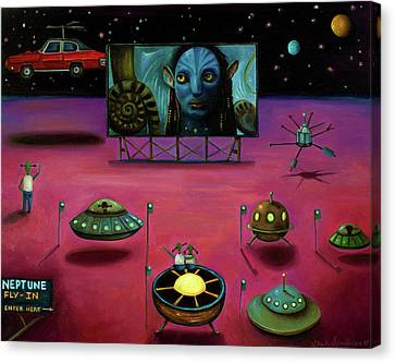 The Sighting At The Neptune Fly In Canvas Print by Leah Saulnier The Painting Maniac