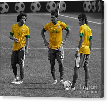 Neymar Junior Canvas Print - The Three Kings by Lee Dos Santos