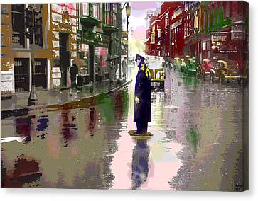The Traffic Cop Canvas Print by Charles Shoup