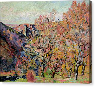 The Valley Of The Sedelle In Crozant Canvas Print