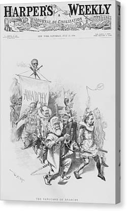 The Vanguard Of Anachy, Caricatures Canvas Print by Everett