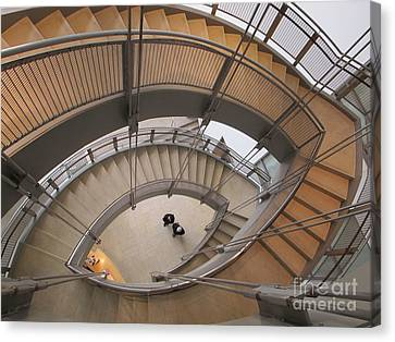 The Walters Museum Staircase Canvas Print by Valia Bradshaw